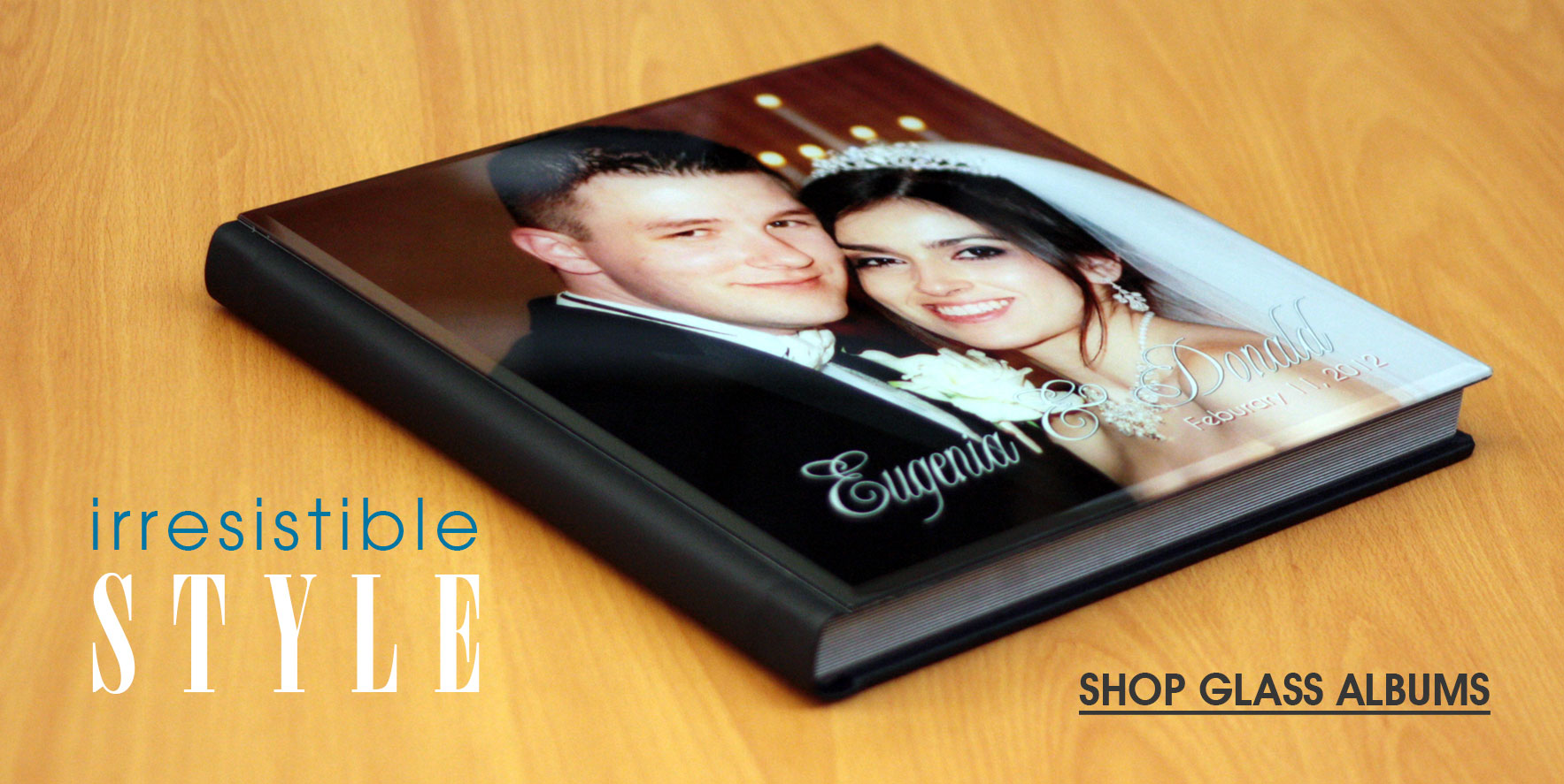 Irresistible Style - Click to Shop Glass Photo Albums