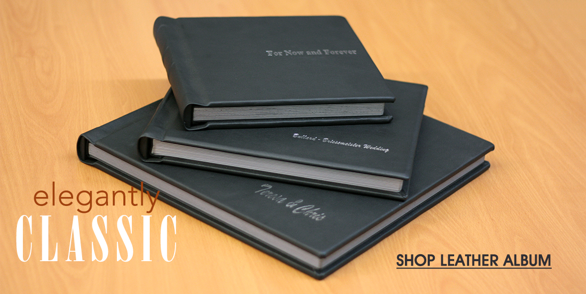 Elegantly classic  - Click to Shop Leather Albums