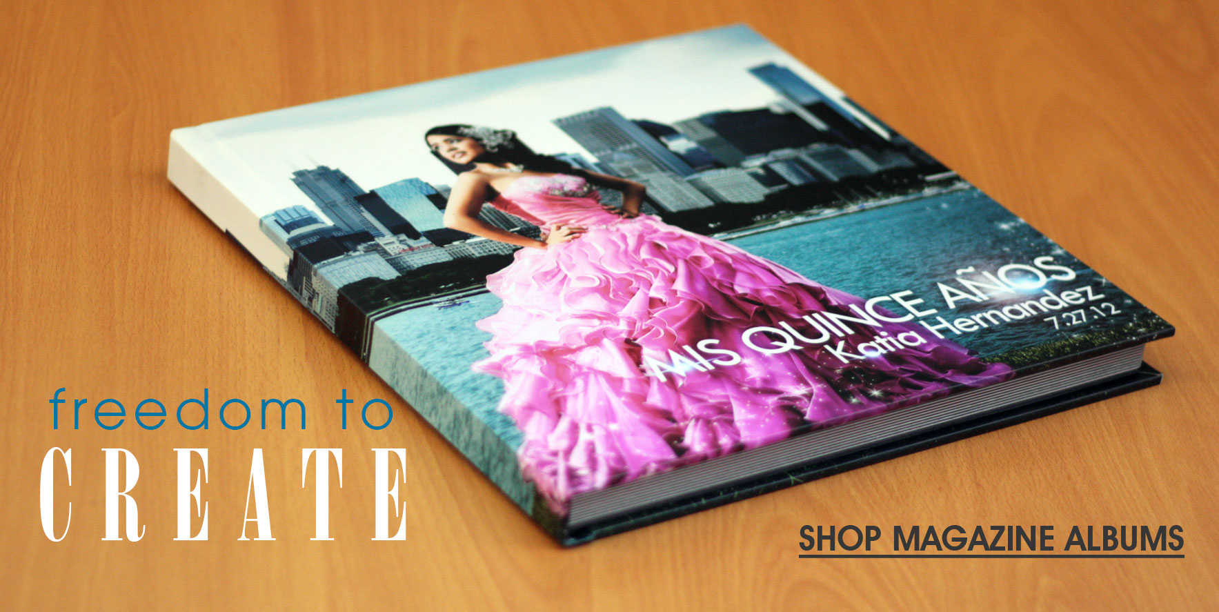Freedom to Create - Click to Shop Magazine Photo Albums